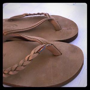 Tan Sandals by Rainbow